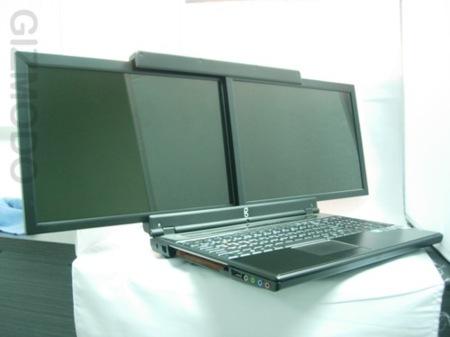 El portátil GScreen con dos pantallas es real