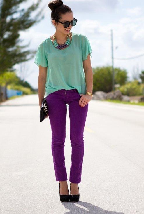 Combinaciones de moda extra as mezclas de colores que - Que colores combinan con el lila ...