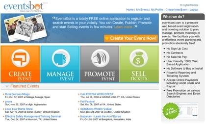 Eventsbot, creación y promoción de eventos por internet