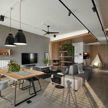 El Estudio AworkDesign diseña este moderno apartamento en Taiwán