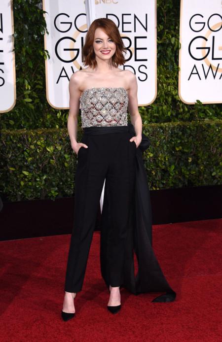 Emma Stone Lanvin Golden Globes 2015