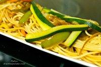 Receta de espaguetis con salteado de verduras