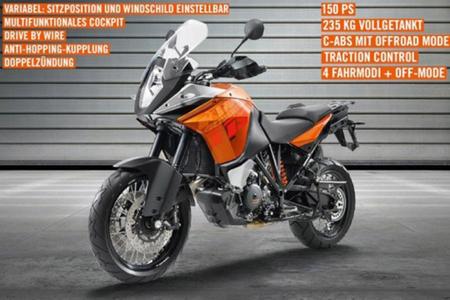 KTM 1190 Adventure 2013, una nueva filtración muestra su imagen oficial