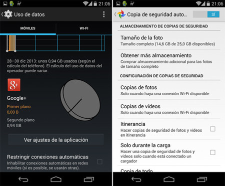 Ojo Mountain View, Google Plus quema mi tarifa de datos