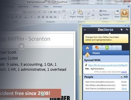 DocVerse permite la edición de documentos entre varios usuarios