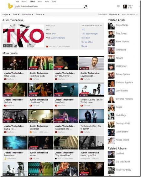 Bing Music Videos