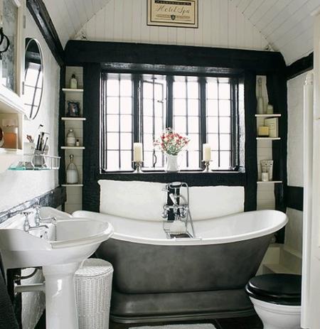 Un baño en negro