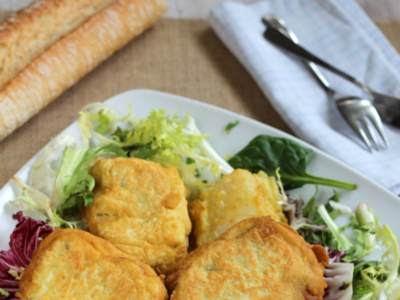 Tacos de bacalao rebozados o soldaditos de Pavía. Receta de Semana Santa