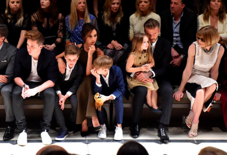 Front Row At The Burberry London In Los Angeles Even 001