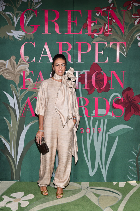 Viviana Volpicella green carpet fashion awards 2019