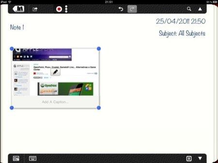Inserción de capturas de páginas web