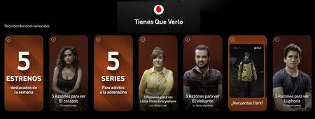 'Tienes que verlo' de Vodafone: nuevo recomendador de series y películas para clientes y no clientes del operador