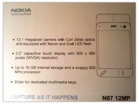 Nokia N87 12MP, ¿un sustituto para el Nokia N86 8MP?