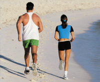 Haz de la playa tu gimnasio