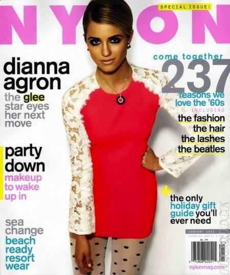 El look de Nochevieja definitivo viene de la mano de Dianna Agron en la revista Nylon