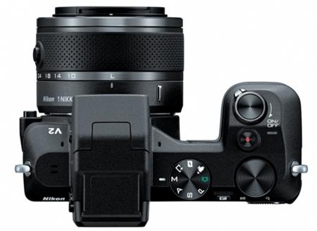 Nikon 1 V2 desde arriba
