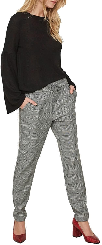 Vero Moda Vmeva Mr Loose String Checked Pants Noos Pantalones para Mujer