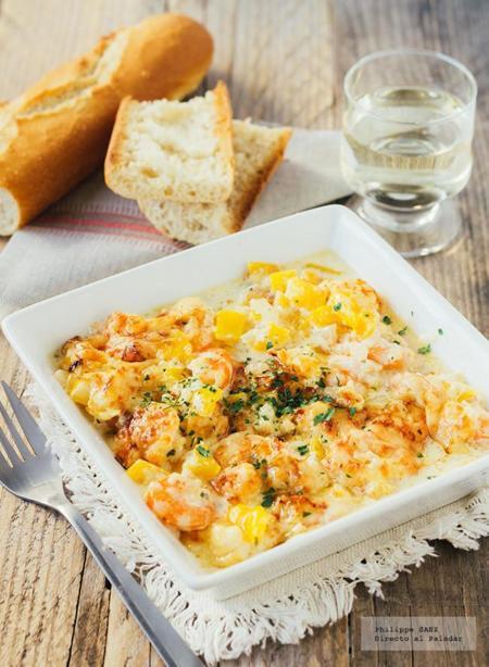 Recetas de cocina camarones gratinados