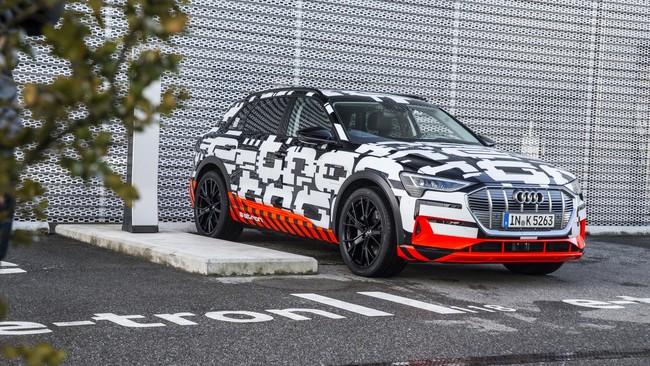 El Audi e-tron es el primer SUV 100 % eléctrico de la firma y aterrizará en Europa a finales de año