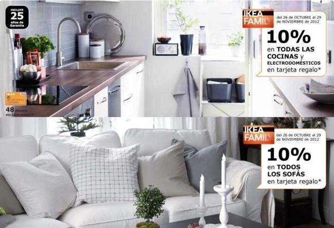 Descuento en cocinas y sofás Ikea