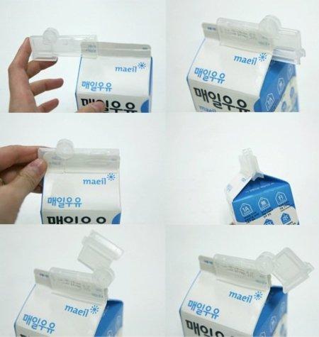 Clip para cerrar la leche en tetrabrick