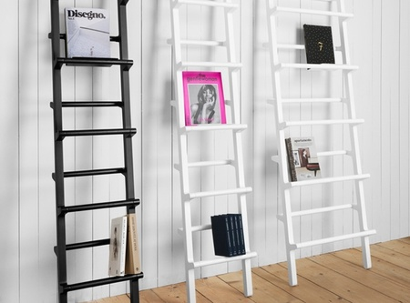 Verso, una escalera de mano convertida en estantería