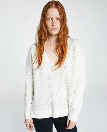 Jersey Blanco Trenzado