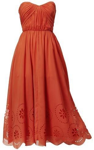 vestido hm naranja