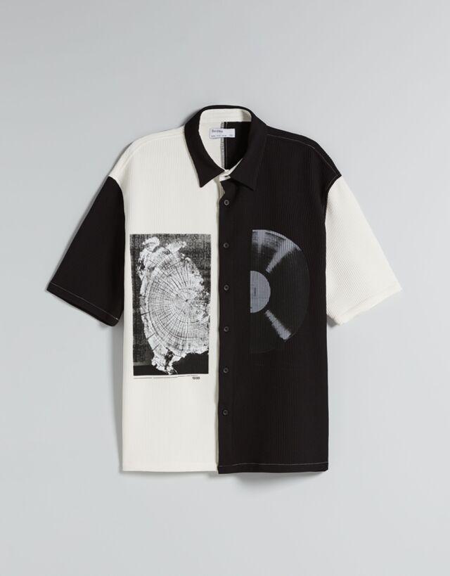 Camisa en manga corta de corte relaxed