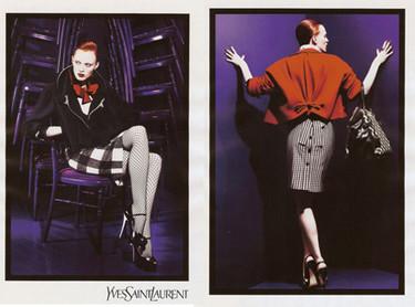 Karen Elson imagen de Yves Saint Laurent