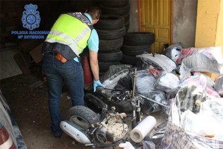 Detenidas siete personas en Murcia por robar 60 motos