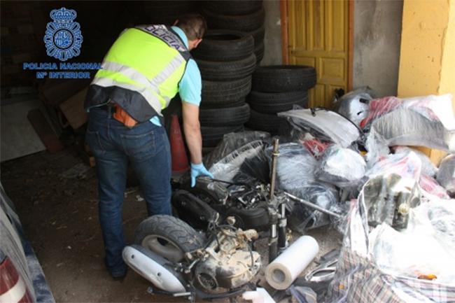 Policía Nacional desarticula una banda de ladrones de motos