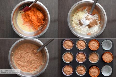Muffins de Zanahoria. Pasos