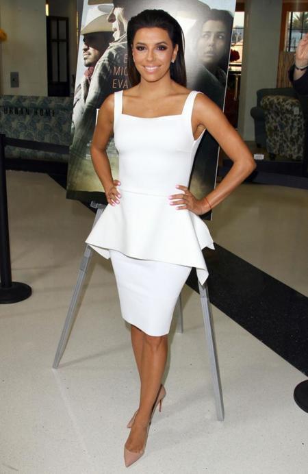 blanco vestido eva longoria peplum