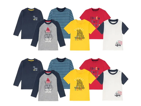 Camiseta De Manga Larga Y Corta Infantil