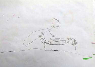 Descubrieron que estaban abusando de su hija de cinco años gracias a sus dibujos