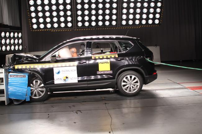 Los Volkswagen Golf y SEAT Ateca pasan la prueba de choque de Latin NCAP con todos los honores