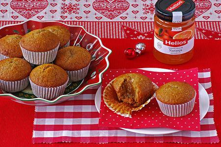 Postre de Navidad: Receta de magdalenas de pan de especias con mermelada de naranja