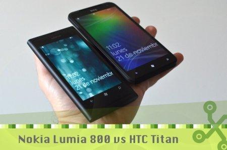 Nokia Lumia 800 y HTC Titan, ¿qué modelo elijo?