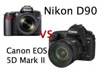 Canon EOS 5D Mark II vs Nikon D90