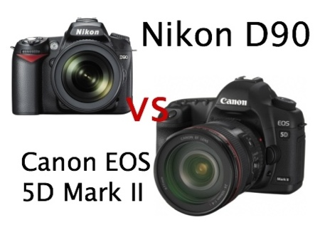 Canon EOS 5D Mark II vs Nikon D90