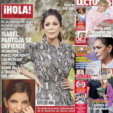 Isabel Pantoja estalla contra su hijo, Mila Ximénez enseña su nuevo casoplón y Belén Esteban celebra su cumpleaños más pasional: estas son las portadas de la semana del 11 de noviembre