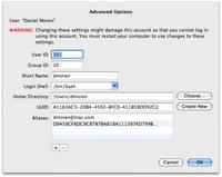 Truco: Opciones avanzadas de  usuario en Leopard