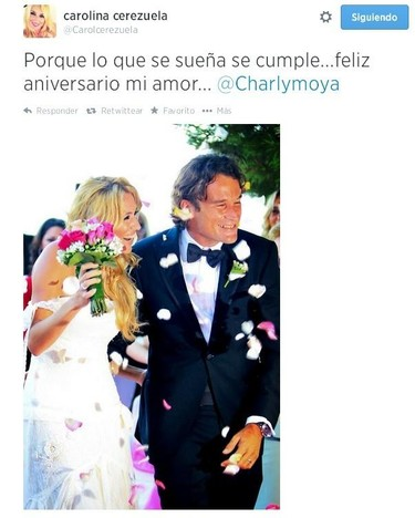Viva el amor, viva Carlos Moyá, Viva Carolina Cerezuela y viva su aniversario