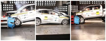 Toyota Hilux, Nissan Frontier y Chevrolet Cruze pasan por las manos de Latin NCAP