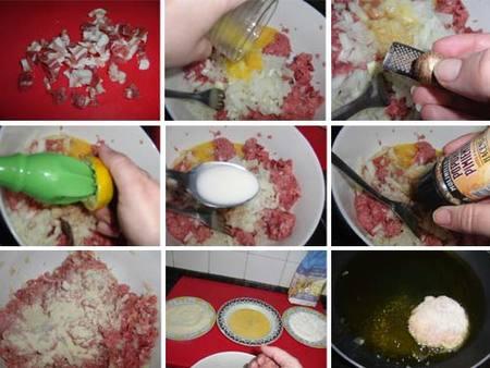 Preparación de los filetes de carne a la alemana