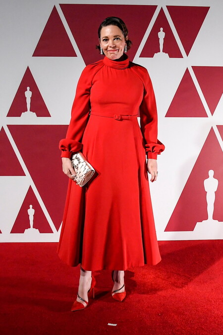 Olivia Colman Christian Dior Alta Costura Oscar 2021