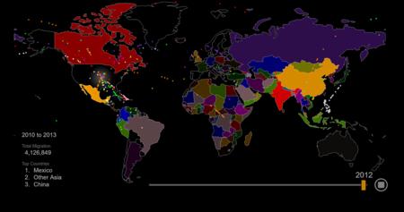 200 años de inmigración en Estados Unidos, resumidos en este estupendo mapa interactivo