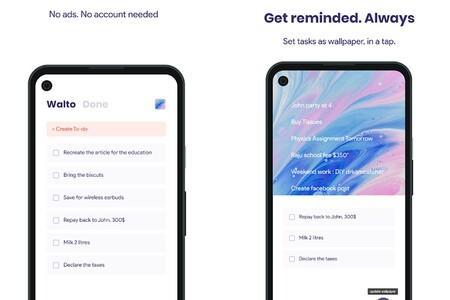 'Walto': las tareas pendientes como fondo de pantalla para un móvil Android