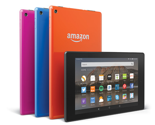 Amazon Fire HD8 y HD10, colorido y delgadez para la renovación de sus tablets de gama media